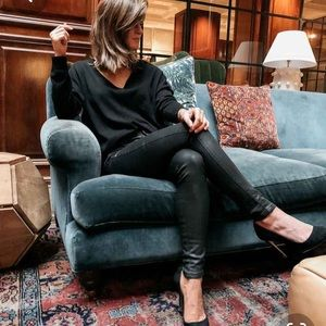 The a Limited black coated skinny jeans